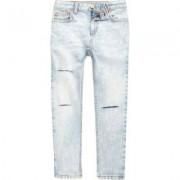 River Island Sid - Lichtblauwe ripped skinny jeans voor jongens