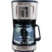 Filtru de cafea digital Capacitate 1.5L 12 cesti Plita pentru pastrarea calda a cafelei Putere 900W Inox si tocator din sticla