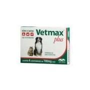 Vermífugo Vetnil Vetmax Plus 700 Mg 04 Comprimidos Para Cães E Gatos