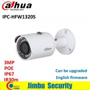 Original DAHUA 3MP IP camera IPC-HFW1320S Bullet IR 30M 1080P Waterproof outdoor full HD POE CCTV security camera can be updated