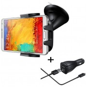 Kit Suport auto Samsung EE-V200SABEGWW + Incarcator Auto Fast Car Charger 2A EP-LN915BEGWW, contine cablu Type C