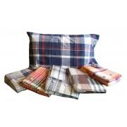 Completo lenzuola 1 piazza scozzese tinto filo 100% cotone tipo Hugo Boss