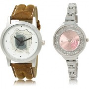 The Shopoholic White Pink Combo Stylist Designer Combo Pack 2 White And Pink Dial Analog Watch For Boys And Girls Watches For Men