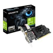 Placa Video GIGABYTE NVidia GeForce GT 710 LP DDR5 2GB/64bit, 954MHz/5010MHz, PCI-E 2.0 x8, HDMI, Cooler, 1 x HDMI+DVI+VGA, Retail