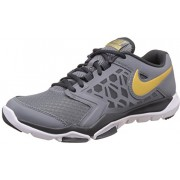 Nike Men's Flex Supreme Tr 4 Cool Grey and Metallic Gold Tennis Shoes -7 UK/India (41 EU)(8 US)