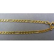 Zlatá retiazka žlté zlato tenká vzor figaro VR42374