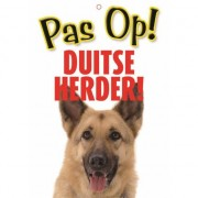 Merkloos Honden waakbord pas op Duitse Herder 21 x 15 cm