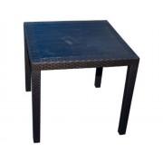 Stôl KING antracit ratan efekt