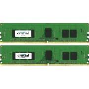 Kit Memorie Server Crucial ECC UDIMM 2x4GB DDR4 2133MHz CL15 Single Rank x8