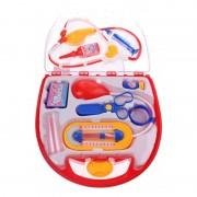 Set de joaca Doctor Eddy Toys, plastic, 8 piese, foarfeca inclusa, 3 ani+