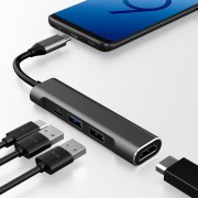 29017 PD charging port +USB 3.0+USB 2.0+HDMI 4-in-1 Type-C Port Video HUB