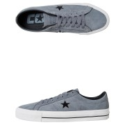 Converse Mens One Star Pro Suede Shoe Grey Black
