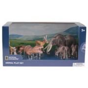 Set 6 figurine - Maimuta Antilopa Crocodil Elefantul si puii NTB03003