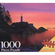 Lighthouse Series Sunset Light Point Atkinson-West Vancouver Canada-1000 piece puzzle