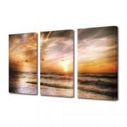 Tablou Canvas Premium Peisaj Multicolor Lumina magica pe plaja Decoratiuni Moderne pentru Casa 3 x 70 x 100 cm