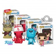 Set Sulley, Boo, Roz, Chef Funko Pop Monsters Inc Pelicula Disney 2018