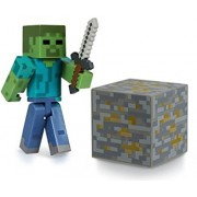 Overworld Zombie ~2.75 Minecraft Mini Fully Articulated Action Figure Pack