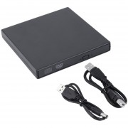 ER External DVD Combo CD-RW CD Burner Drive ± RW DVD ROM Negro Nuevo USB 2.0 (Negro).
