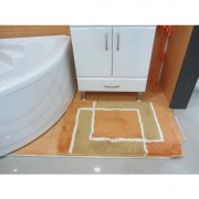 Set prostirki za kupatilo Excluziv nnarandžasto-maslinaste