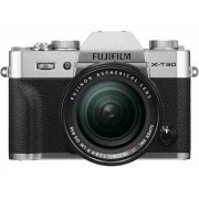 Fujifilm Systemkamera Fujifilm X-T30 XF18-55 mm 26.1 Megapixel Silver Touch-Screen, Elektronisk sökare, Hopfällbar display, WiFi, Blixtskon, Bluetooth