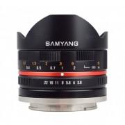 Samyang 8mm 2.8 UMC Fish-eye pentru Samsung NX Silver