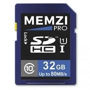 MEMZI Class Pro 32GB, clase 10, 80MB/s tarjeta de memoria SDHC para canon eos rebel/EOS Cámaras Digitales o videocámaras Cine