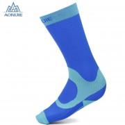 Calcetines de compresión graduados AONIJIE Running (Azul)