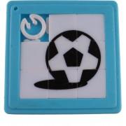 Lg-imports Schuifpuzzel Voetbal 5 Cm Blauw 8 Stukjes