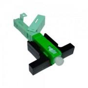 Conector Rápido Reutilizável SC/APC Clip e Trava Interna