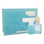 Miu Miu Miu Miu L´Eau Bleue 100Ml Edp 100 Ml + Body Lotion 100 Ml Per Donna(Eau De Parfum)