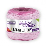 Woolly Hugs Bobbel Cotton von Woolly Hugs, Weiß/Fuchsia/Pink