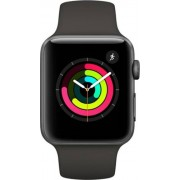 Apple Watch Series 3 Sport 42mm Aluminium Grey Plastic Sport Band Negru