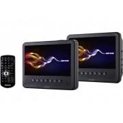 Lenco MES-212 Hoofdsteun-DVD-speler met 2 monitoren Beelddiagonaal=17.5 cm (7 inch)