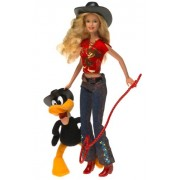 "Looney Tunes Back in Action Barbie Loves Daffy Duck El Pato Lucas Patolino with 6"" Plush Daffy Duck"