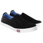Blinder Black Mesh Casual Mocassion Loafers Shoes For Men