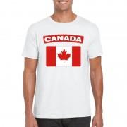 Shoppartners Canadese vlag shirt wit heren