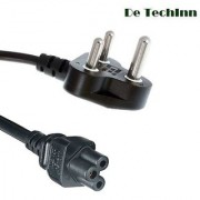 De TechInn 3 Pin Power Supply Cord Cable for Laptop Adapter Charger - 1.5 Mtr