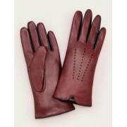 Boden Ochsenblutrot/Navy Lederhandschuhe Damen Boden, M/L, Purple