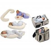 Cojin C, Almohada Descanso En El Embarazo + Bolso Cuna Bebé