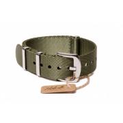 Edelwolle prémium Nato óraszíj, military zöld, 22mm