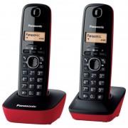 Panasonic KX-TG1612 Telefone Sem Fios DECT Duo Vermelho