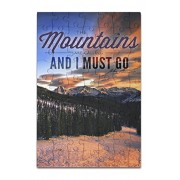 John Muir - The Mountains are Calling - Monarch Mountain - Sunset (8x12 Premium Acrylic Puzzle, 63 Pieces)