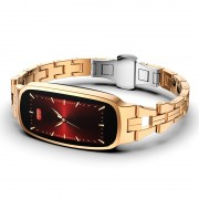 B72 HD Color IPS Screen Health Monitoring Physiological Cycle Reminder Female Smart Bracelet - Gold