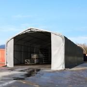 Profizelt24 Lagerzelt 6x24m PVC grau Unterstand, Lager