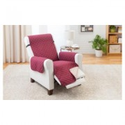 Odash Reversible Furniture Protector for Chair, Recliner, Loveseat, or Sofa Recliner Wine/Mocha