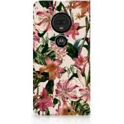 Motorola Moto G7 G7 Plus Uniek Standcase Hoesje Flowers