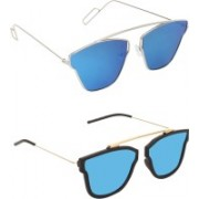 Pogo Fashion Club Retro Square, Cat-eye Sunglasses(Blue)