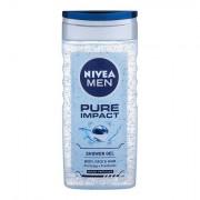 Nivea Men Pure Impact sprchový gel na tělo a vlasy 250 ml pro muže