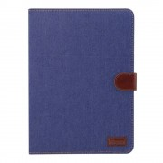 Shop4 - iPad Pro 12.9 (2018) Hoes - Book Cover Jeans Donker Blauw