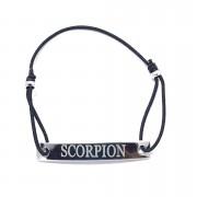 Bratara neagra cu snur ajustabil zodia scorpion